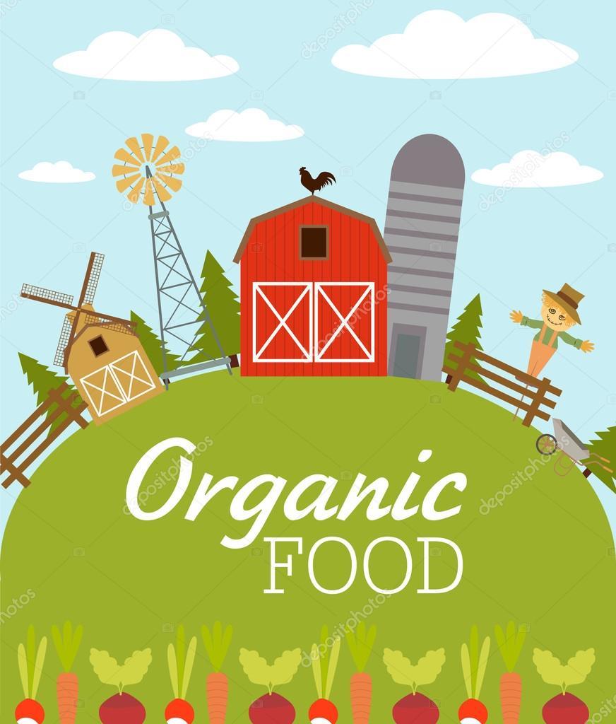 Organic food. American farm