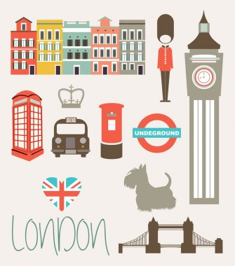 Set of elements and landmarks of London