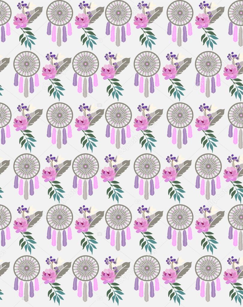 Boho ethnic style pattern