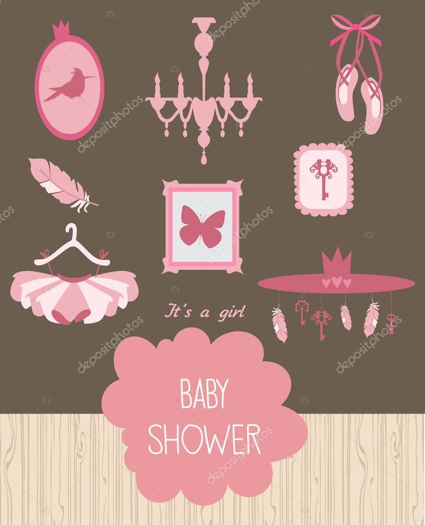 Invitaciones De Baby Shower De Bailarina De Ballet Tarjeta