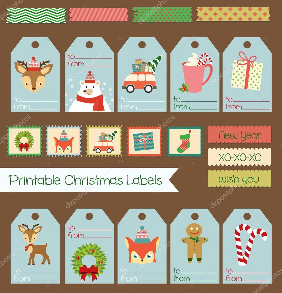 printable christmas labels set stock vector miobuono12 86934216