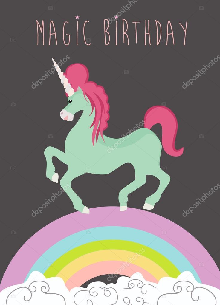 Magic Birthday Card Stock Vector Miobuono12 99177764