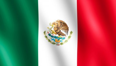 Flag of Mexico waving in the wind