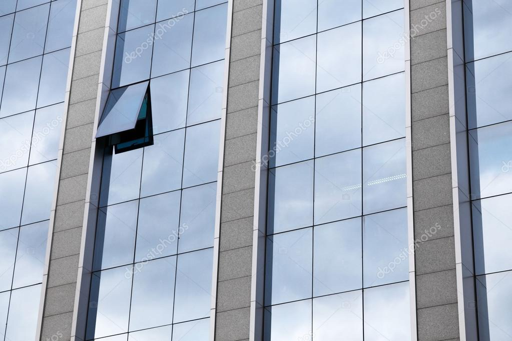 Bureaux modernes en verre et en acier détails d architecture