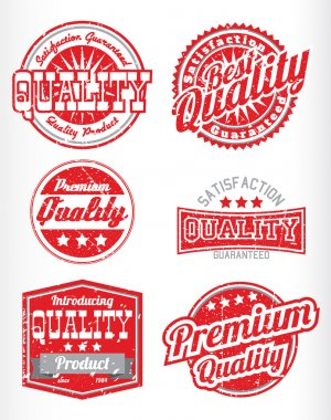 Premium quality labels with removable grunge effect