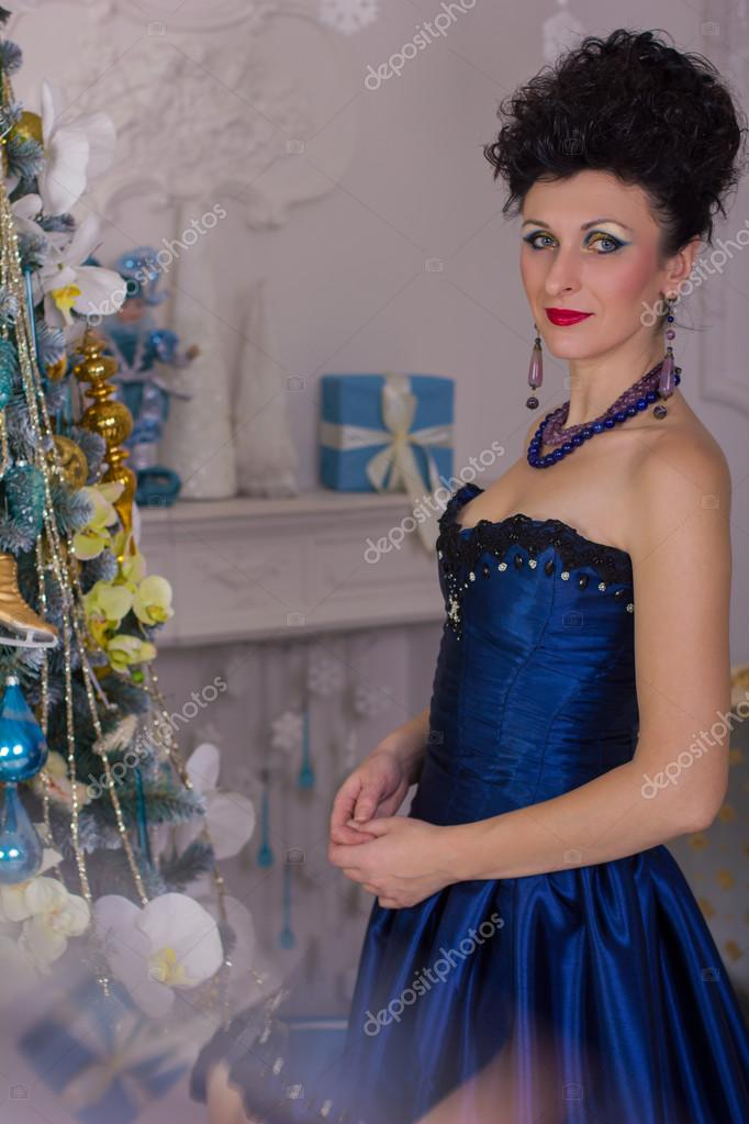 adbbbcbbca nő a ruha barokk — Stock Fotó © Edinorog12 #67672243