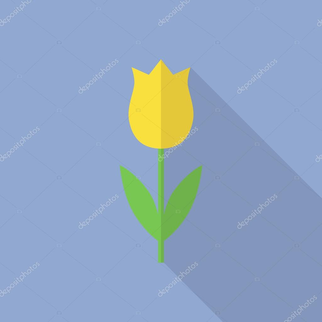 Tulip vector icon in a flat style.