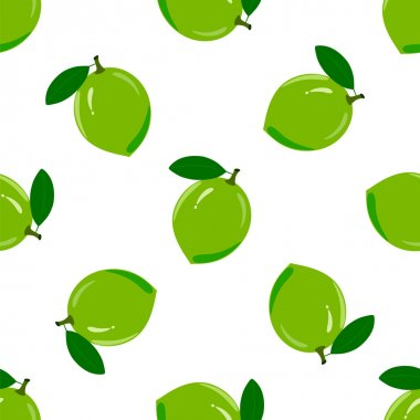 Lime Seamless Pattern.