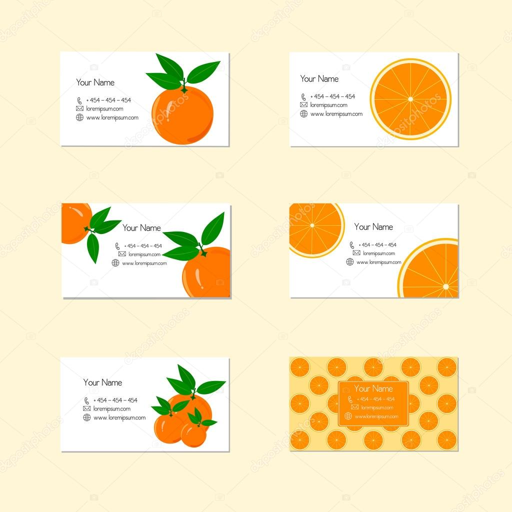 Business cards with ripe juicy orange fruit stock vector business cards with ripe juicy orange fruit stock vector reheart Image collections