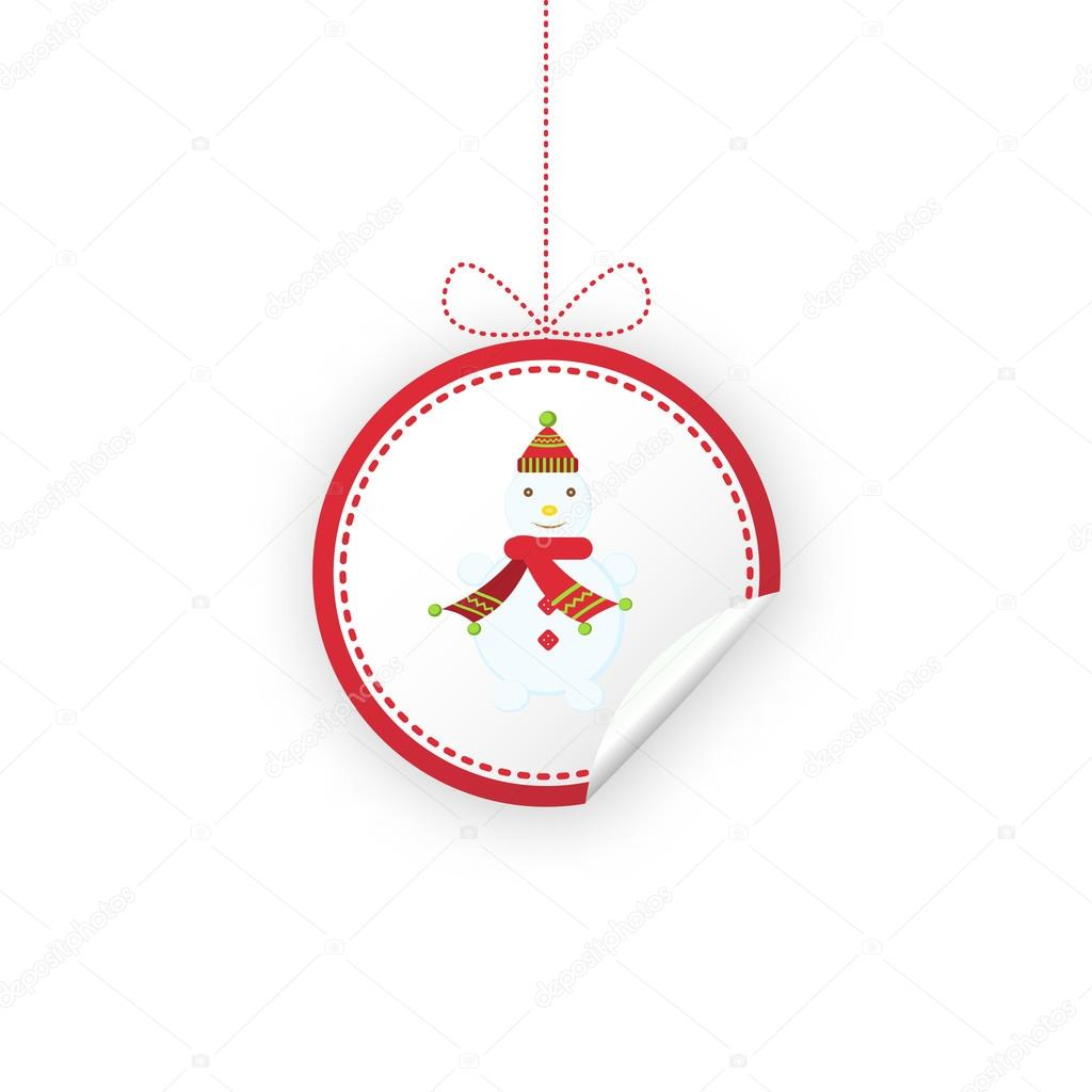 Label for Christmas gifts, sales, product. — Stock Vector ...