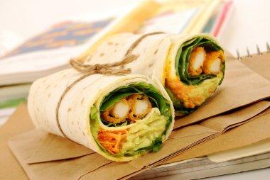 School lunch series: chicken wrap sandwich