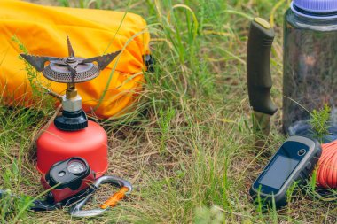 Travel survival kit in the wild