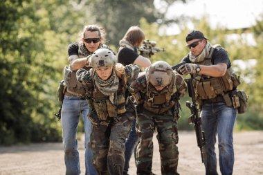 Terrorists captured military soldiers hostage