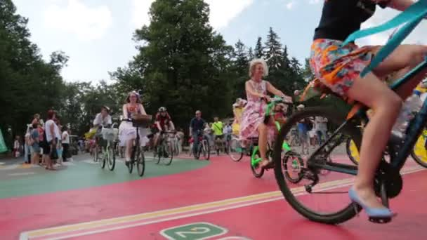 Ladies Cycling in the Park (Ladies in Exotic)