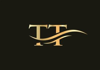 TT logo design. TT Modern creative unique elegant minimal. TT initial based letter icon logo. icon