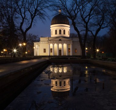 Chisinau Cathedral in night