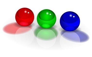 RGB three balls vector