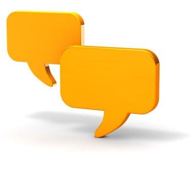 Dialogue balloons chat yellow