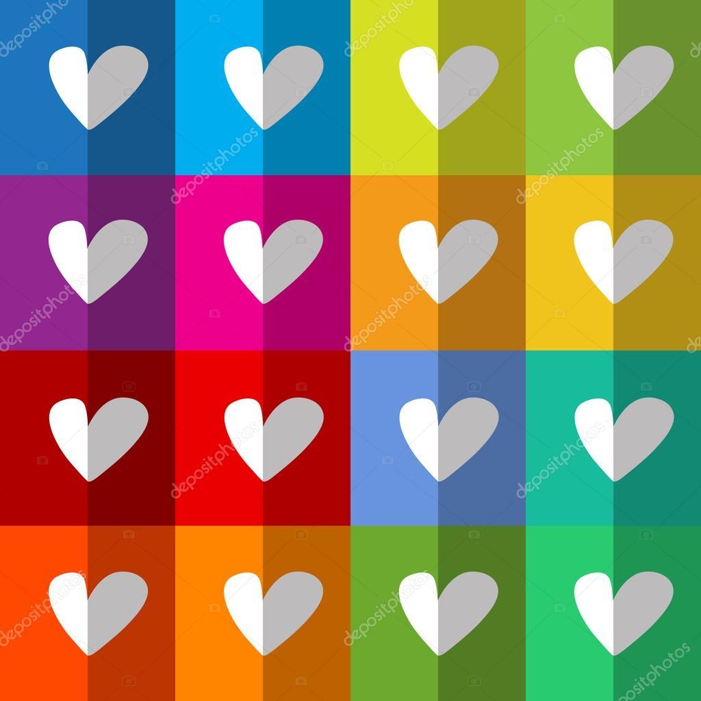 Coeurs blanc sur fond de damier color image vectorielle bellabrend 66599871 - Cuadros de colores ...
