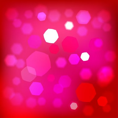 Abstract bokeh background, pink red magic lights.