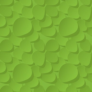 Floral 3d Seamless Vector Pattern Background with rose petals green.