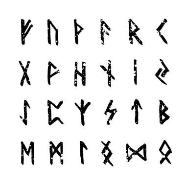 Old scandinavian runes set