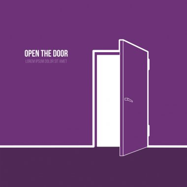 Illustration of open door