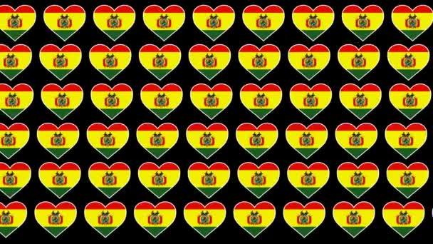 Bolivia Pattern Love flag design background