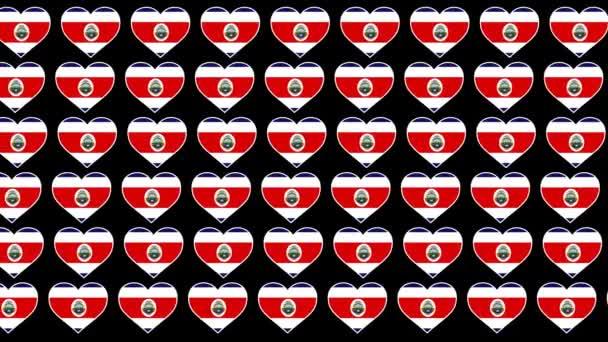 Costa Rica Pattern Szerelem zászló tervezés háttér