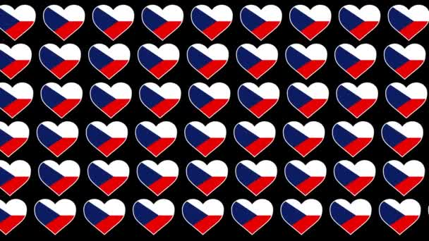 Czech Republic  Pattern Love flag design background