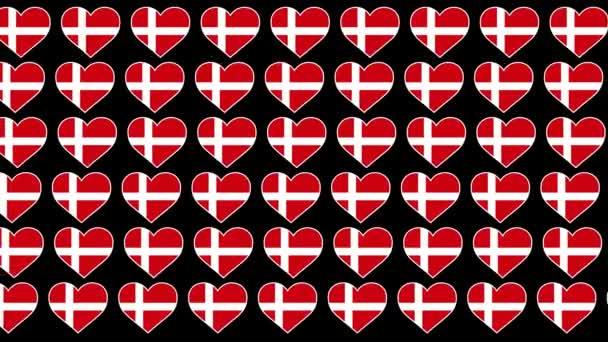 Dánia minta Szerelem zászló tervezés háttér