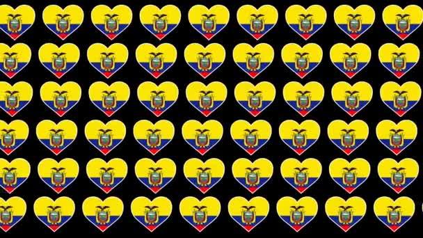 Ecuador Pattern Love flag design background