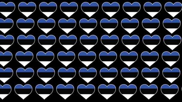 Estonia Pattern Love flag design background