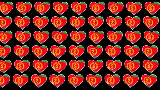 Eritrea Pattern Love flag design background