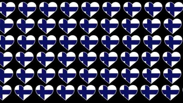 Finland Pattern Love flag design background