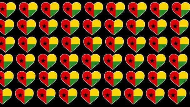 Guinea Bissau Pattern Love flag design background