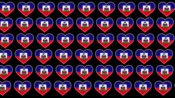 Haiti Pattern Love flag design background