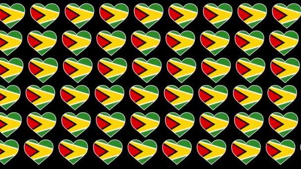 Guyana Pattern Love flag design background