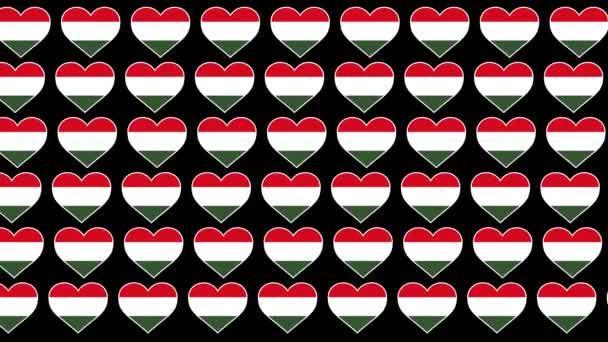 Hungary Pattern Love flag design background