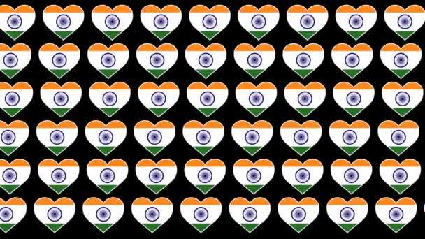 India Pattern Love flag design background