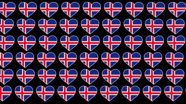 Iceland Pattern Love flag design background