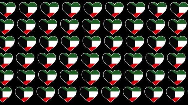 Kuwait Pattern Love flag design background