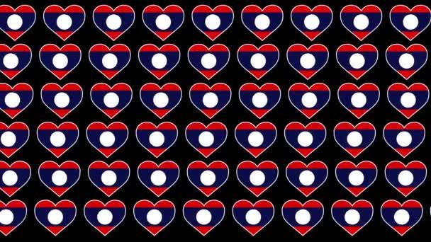 Laos Pattern Love flag design background