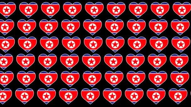 North Korea Pattern Love flag design background