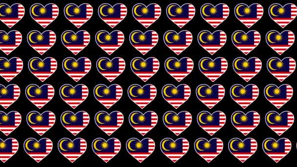 Malaysia Pattern Love flag design background