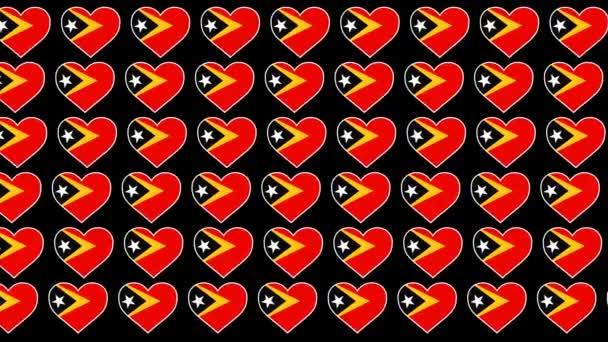 East Timor ��Pattern Love flag design background