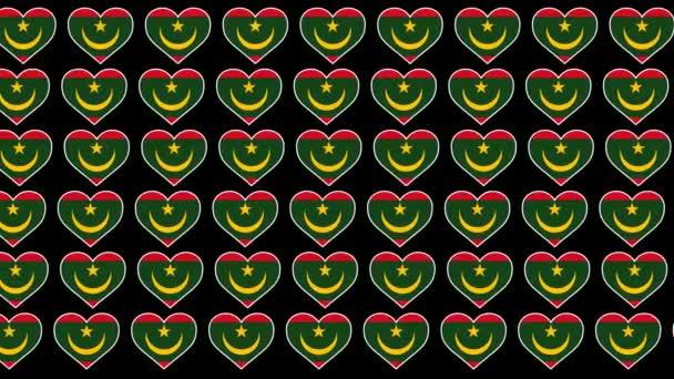 Mauritania Pattern Love flag design background