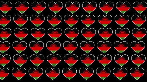 Malawi Pattern Love flag design background