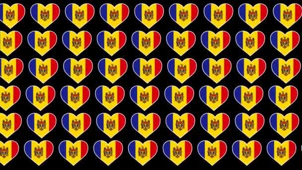 Moldova Pattern Love flag design background