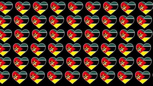 Albania Pattern Love flag design background